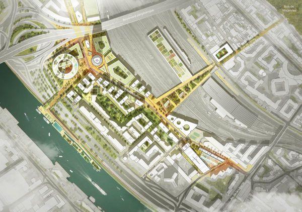 Plan-masse Charenton-Bercy